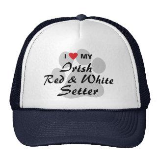 I Love My Irish Red and White Setter Trucker Hat