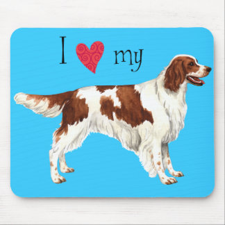 I Love my Irish Red and White Setter Mouse Pad
