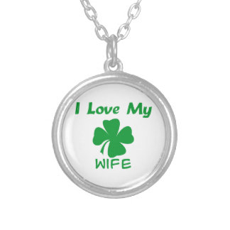 I Love My Irish Round Pendant Necklace