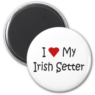 I Love My Irish Setter Dog Breed Lover Gifts 2 Inch Round Magnet