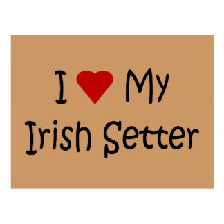 I Love My Irish Setter Dog Breed Lover Gifts Postcard