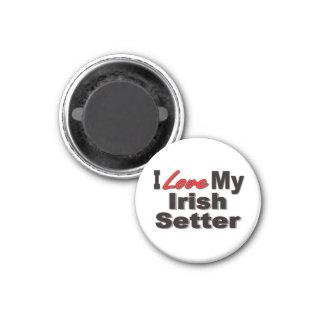 I Love My Irish Setter Dog Gifts and Apparel Fridge Magnet