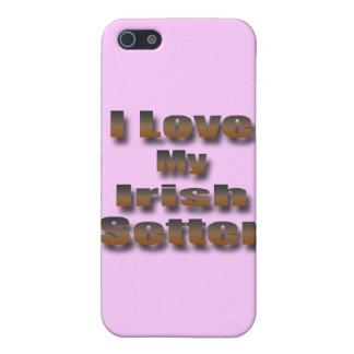 I Love My Irish Setter iPhone SE/5/5s Cover