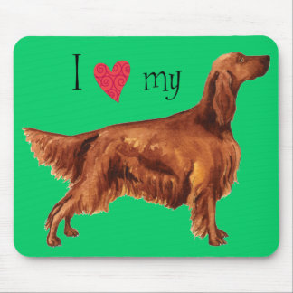 I Love my Irish Setter Mouse Pad