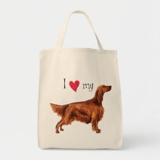 I Love my Irish Setter Tote Bag