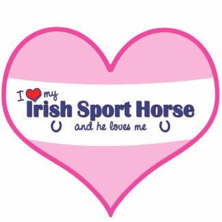 I Love My Irish Sport Horse (Male Horse) Cutout