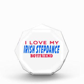 I Love My Irish Stepdance Boyfriend Acrylic Award