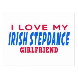I Love My Irish Stepdance Girlfriend Postcards