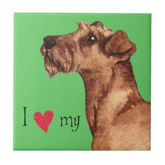 I Love my Irish Terrier Ceramic Tile