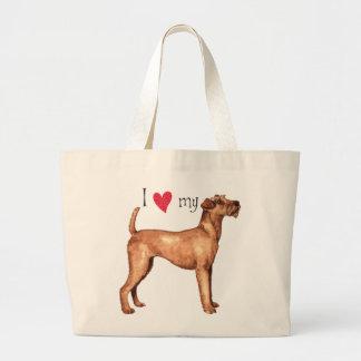 I Love my Irish Terrier Large Tote Bag
