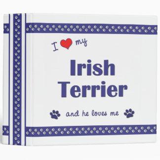 I Love My Irish Terrier (Male Dog) Binder