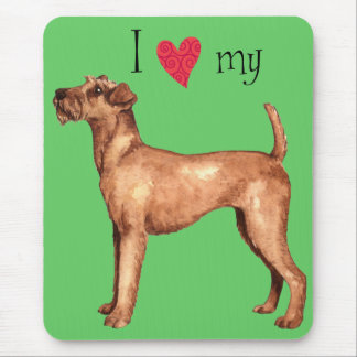 I Love my Irish Terrier Mouse Pad