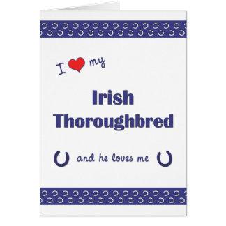 I Love My Irish Thoroughbred (Male Horse) Stationery Note Card