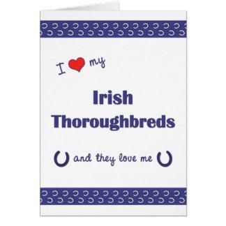 I Love My Irish Thoroughbreds (Multiple Horses) Stationery Note Card
