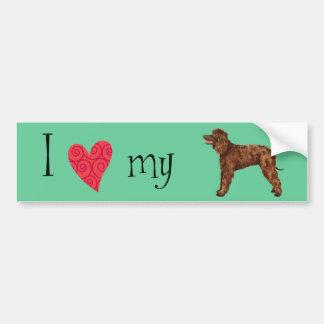 I Love my Irish Water Spaniel Bumper Sticker