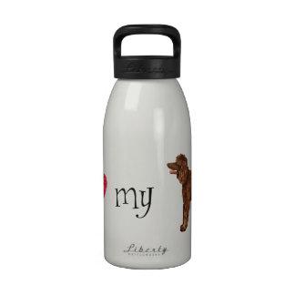 I Love my Irish Water Spaniel Drinking Bottles