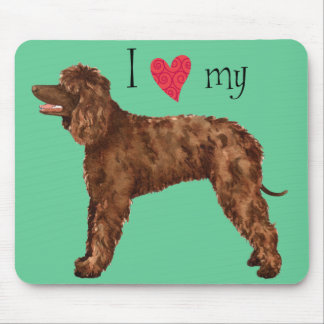 I Love my Irish Water Spaniel Mouse Pad