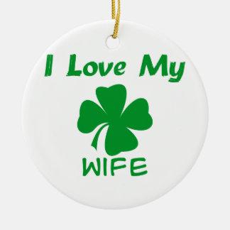 I Love My Irish Wife Ceramic Ornament