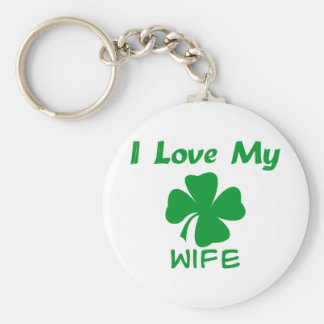 I Love My Irish Wife Basic Round Button Keychain