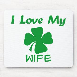 I Love My Irish Wife Mouse Pads