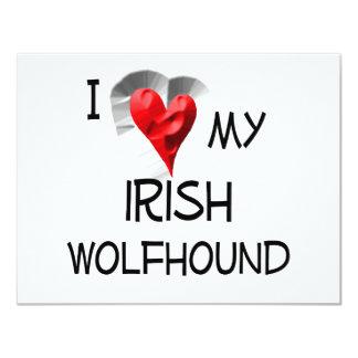 I Love My Irish Wolfhound Card
