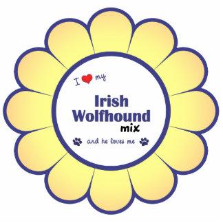 I Love My Irish Wolfhound Mix (Male Dog) Photo Sculptures