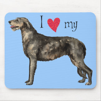 I Love my Irish Wolfhound Mouse Pad