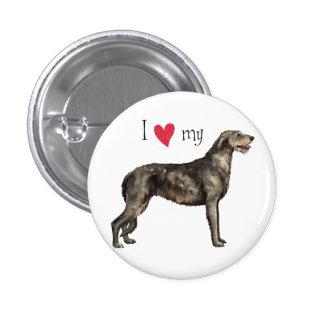 I Love my Irish Wolfhound Pinback Button