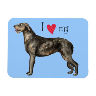 I Love my Irish Wolfhound Rectangular Photo Magnet