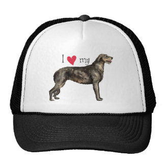 I Love my Irish Wolfhound Trucker Hat