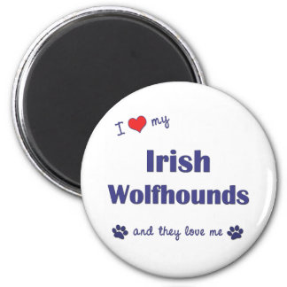 I Love My Irish Wolfhounds (Multiple Dogs) Magnet