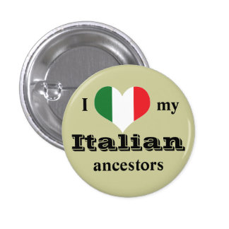 I love my Italian ancestors Button