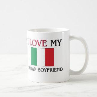 I Love My Italian Boyfriend Classic White Coffee Mug