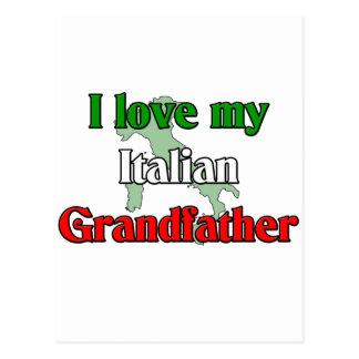 I Love My Italian Grandfather Postcard