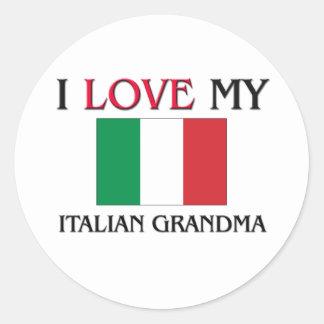 I Love My Italian Grandma Round Sticker