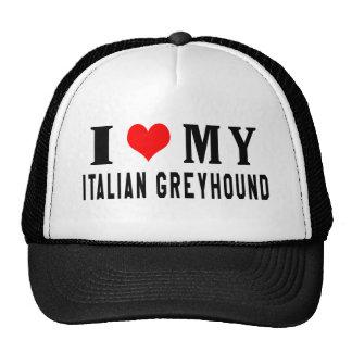 I Love My Italian Greyhound Mesh Hat
