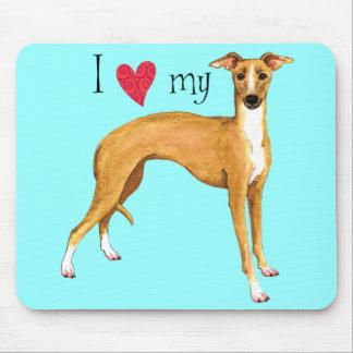 I Love my Italian Greyhound Mouse Pad