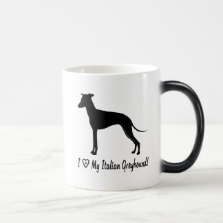 I Love My Italian Greyhound with Paw in Heart Magic Mug