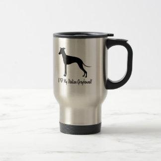 I Love My Italian Greyhound with Paw in Heart Travel Mug