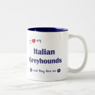 I Love My Italian Greyhounds (Multiple Dogs) Two-Tone Coffee Mug