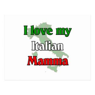 I Love My Italian Mamma Postcard