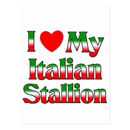 I Love My Italian Stallion Postcard
