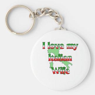 I Love My Italian Wife Keychain
