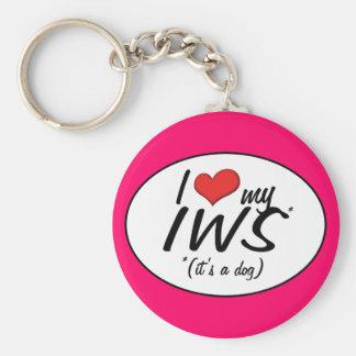 I Love My IWS (It's a Dog) Keychain