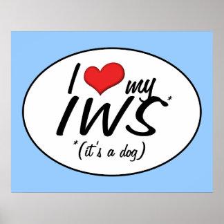 I Love My IWS (It's a Dog) Print