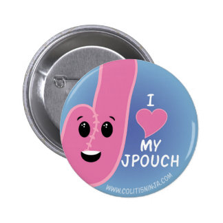 I Love My J-Pouch Pinback Button