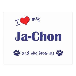 I Love My Ja-Chon (Female Dog) Postcard