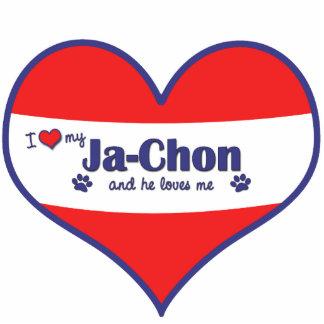 I Love My Ja-Chon (Male Dog) Photo Statuette