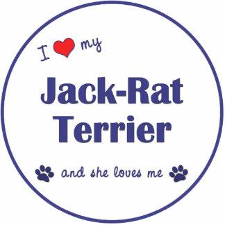 I Love My Jack-Rat Terrier (Female Dog) Photo Sculpture Ornament