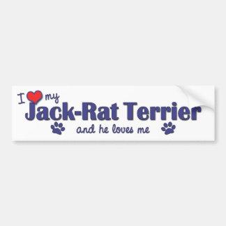 I Love My Jack-Rat Terrier (Male Dog) Car Bumper Sticker